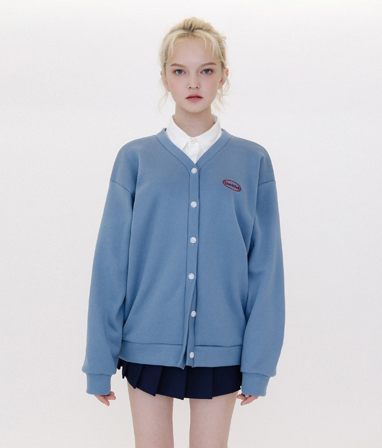 Untitle8 Color Cardigan (기모) (Indi Blue)
